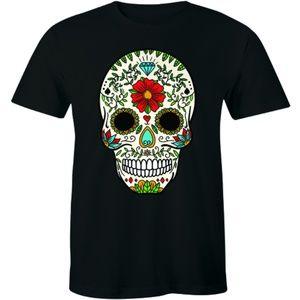 Skull Flower Retro Floral Vintage Funny T-shirt